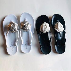 2 pair Kate Spade flip flops